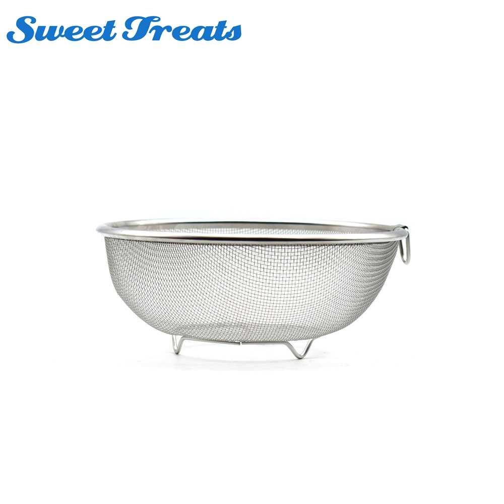 Stainless Steel Fruit Bowl Vegetable Strainer Washing /& Draining Basket