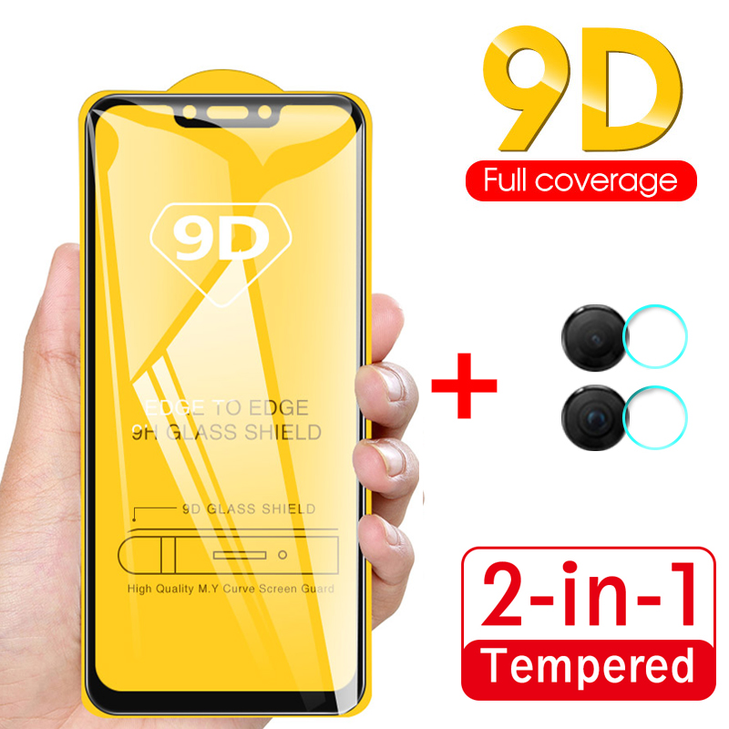 9D Curved Full Cover Glass For Huawei Honor 8X Camera Tempered Glass Honer Honor 8X JSN-L21 AL00 Back Lens Screen Protector Film image