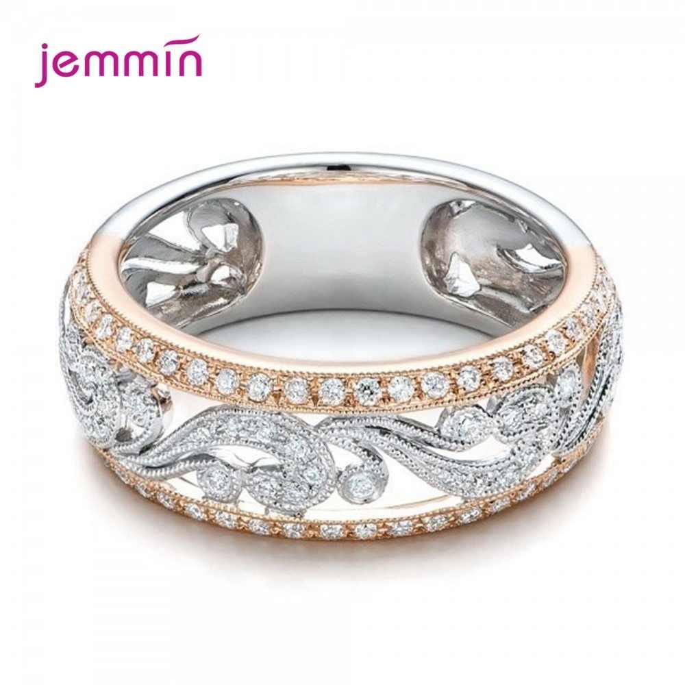 Bagues de fiançailles à la mode femmes accessoires 925 en argent Sterling brillant miroitant cubique Zircon creux Knuckle bague Anillos