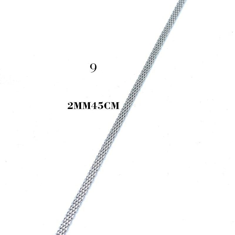 USENSET, звено, ожерелье s 304, цепи из нержавеющей стали, никогда не стираются, цветная бусина, коробка, киль, подвеска, ожерелье, ювелирные изделия, подарки - Окраска металла: 9