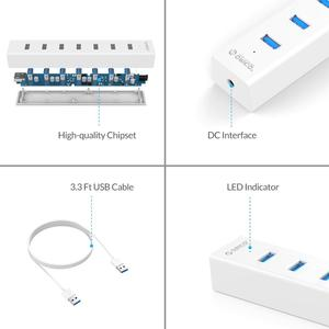 Image 5 - ORICO USB3.0 HUB 7พอร์ตUSB 3.0 HUBพร้อม5V2Aอะแดปเตอร์หลายความเร็วสูงOTG Splitterสำหรับแล็ปท็อปคอมพิวเตอร์อุปกรณ์เสริม