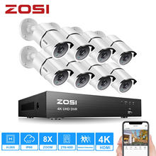 Zosi 4k hd Комплект видеонаблюдения h265+ dvr на 8 каналов с