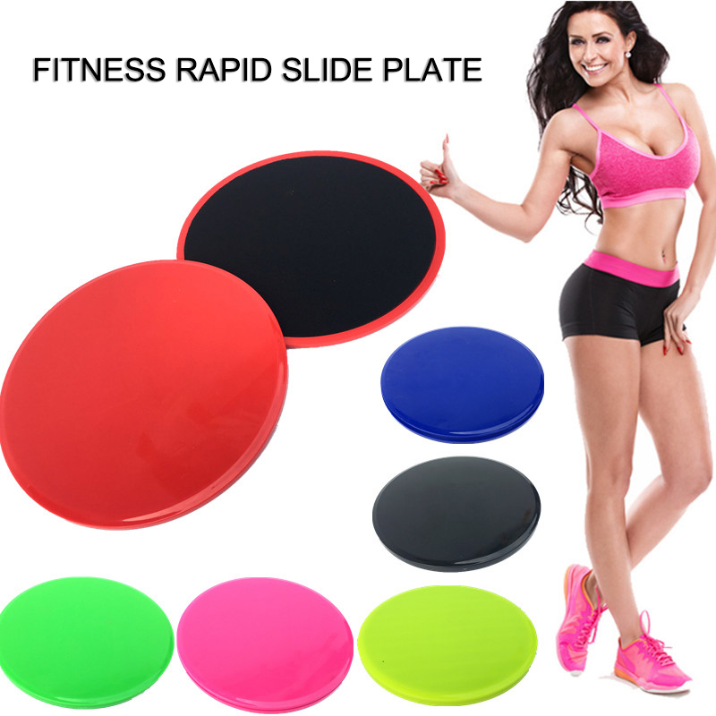 Newly 2 Pcs Core Gliding Discs Slider Fitness Disc Exercise Sliding Plate for Yoga Gym Abdominal Training Fitness Equipment image