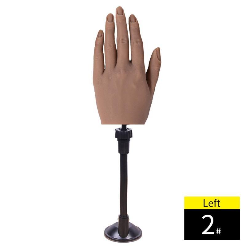 flexível exibição modelo de arte do prego prática mão