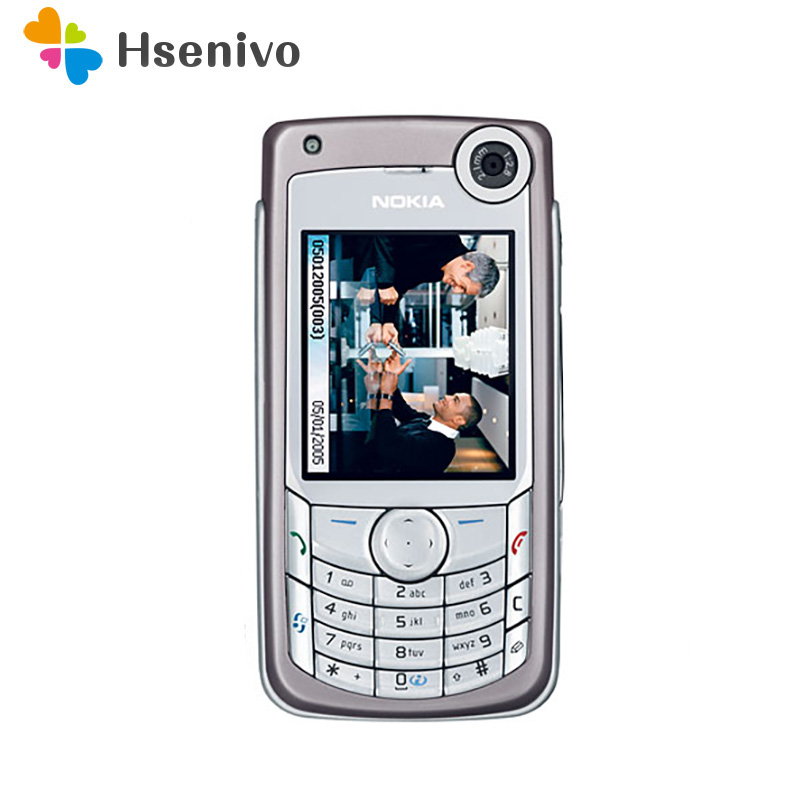 6680 Original Unlocked Nokia 6680 Mobile Phone 2.2 Inch 2G/3G With Bluetooth Cellphone Free Shipping
