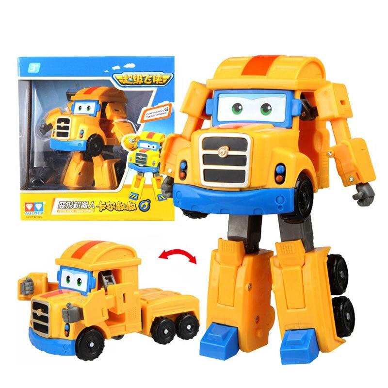Большой! 15 см ABS Супер Крылья деформация самолет робот фигурки Супер крыло Трансформация игрушки для детей подарок Brinquedos - Цвет: With Box Poppa