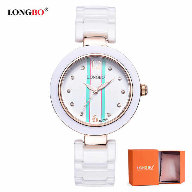 LONGBO Women Watch Fashion Lady Luxury Watches Waterproof Ceramic Ladies Quartz Watch Classic Women's wristwatch Montre Femme