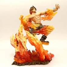 Figura de acción de One Piece Portgas · D · Ace, figura de acción de PVC con puño de fuego, Anime de una pieza, Ace 15 ° aniversario Max, juguete de Figuarts 250mm
