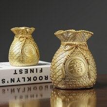 Lucky Bag Model Coin Can Resin Sculpture Ornament Desktop Trinket Handicraft Ornament Festival Gift