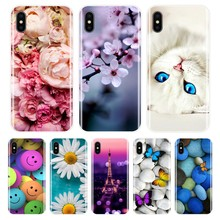 Phone Case for iPhone X 8 7 6 6S 6 S Plus Soft Silicone TPU Ultra Thin Cute Cat Painted Back Cover for iPhone 5S 5 S SE Case(China)