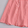 KUMSVAG Women Summer Plaid Dress 2021 Sleeveless Strapless Backless Female Elegant Street Mid-Calf Dresses Vestidos 6