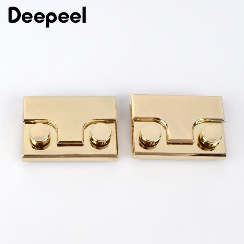 Deepeel 2/4pcs Snap Bag Lock Metal Clasp Spring Buckle For DIY Handbag Bag Purse Hardware Closure Bag Parts Accessories KY410