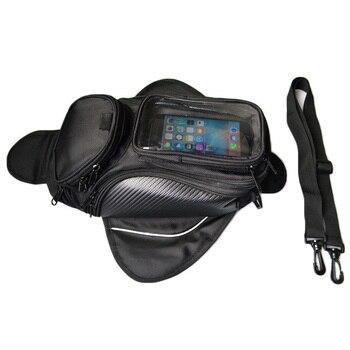 Magnetic Motorcycle Tank Bag Waterproof Motorbike Saddle Bag Single Shoulder Bag Backpack Luggage Phone Case For IPhone