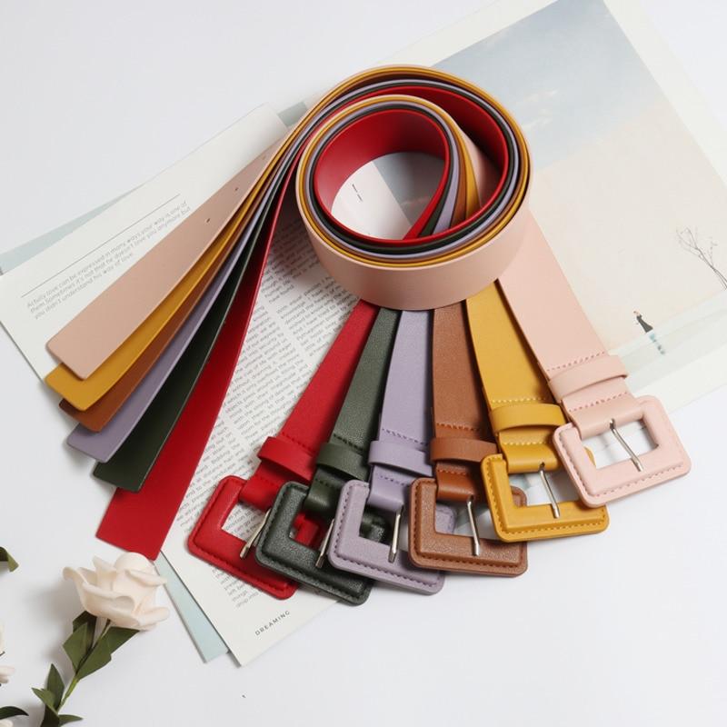 2020 High Fashion Wide Belt Stylish Solid Leather Belt Solid Corset Belt Waistband New Design Belts For Women Female Tide ZK818
