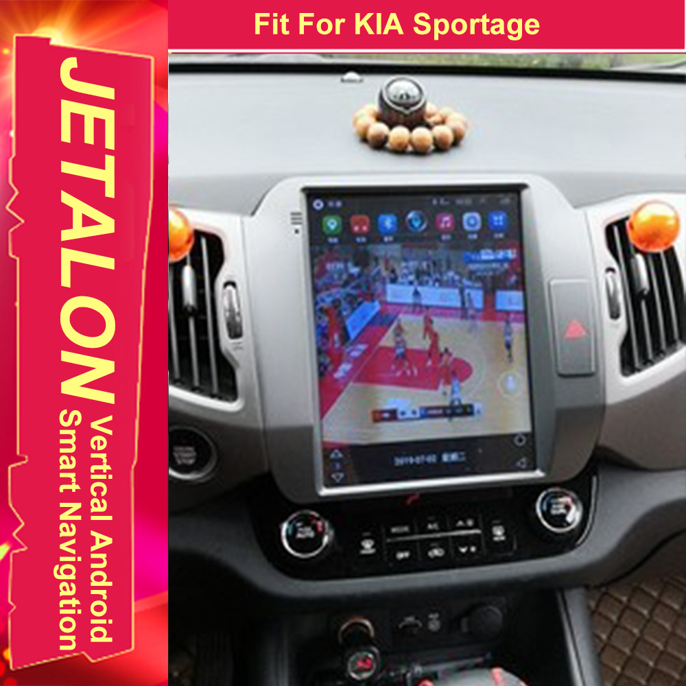 For Kia Sportage R 2014 2013 2012 2010 Tesla Radio Android 9.0 Stereo GPS Car Multimedia Audio Player 4G Lte Network Navigation