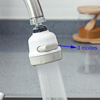 ZhangJi kuchnia 3 tryby 360 obrotowy Tap kran Aerator Bubble elastyczny oszczędzania wody filtr wysokociśnieniowy Adapter opryskiwacz tanie i dobre opinie Aeratorów VE099 Plastic