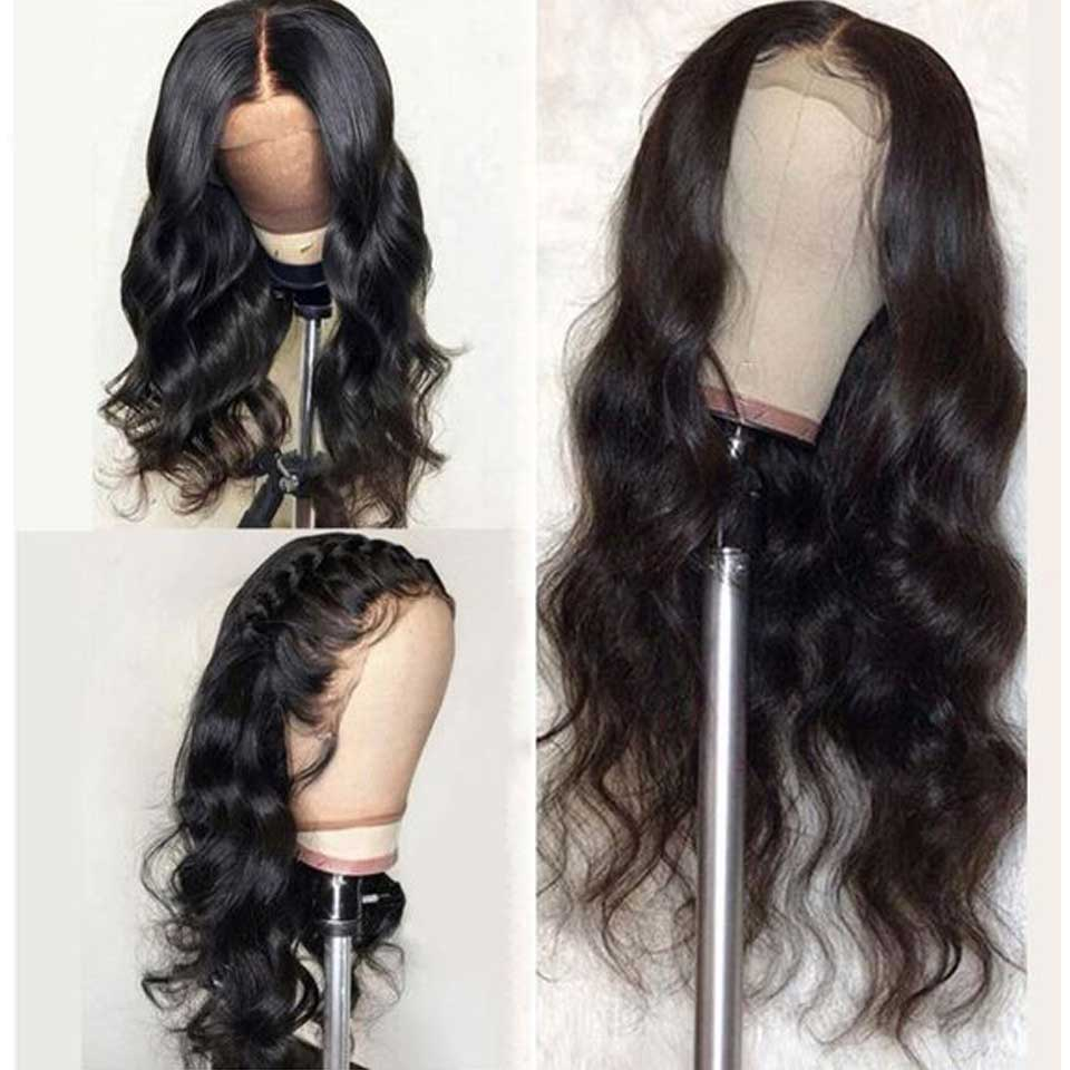 180% Lace Front Human Hair Wigs 13X4 Pre Plucked  Brazilian Body Wave Lace Frontal Wigs With Baby Hair For Black Women
