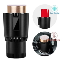 Warmer Cooler-Cup Smart 12V Car Display with Aluminum-Cup 2-In-1 Mug-Drinks-Holders Office