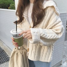 Mooirue Vintage Autumn Cardigan Knitted Sweater Button Korean Style Casual Streetwear Kardigan Harajuku Feminine Coats