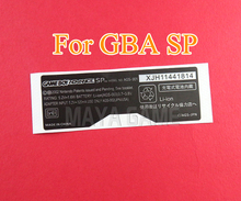 100 sztuk dla GameBoy GBA SP konsola powrót Tag dla Gameboy SP naklejki etykiety AGS 101