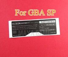 100pcs עבור GameBoy GBA SP קונסולה חזרה תג עבור Gameboy SP תווית מדבקת AGS 101