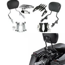 Motorcycle Detachable 4 Point Docking Luggage Rack Sissy Bar Backrest For Harley FLHXS 2014-2018 chrome detachable adjustable sissy bar backrest luggage rack for harley softail fat boy