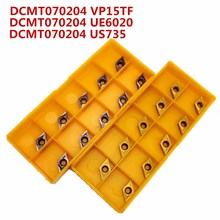 Твердосплавный инструмент DCMT070204 US735 наружный металлический токарный инструмент токарный станок фрезерный станок с ЧПУ Инструменты DCMT 070204 фреза