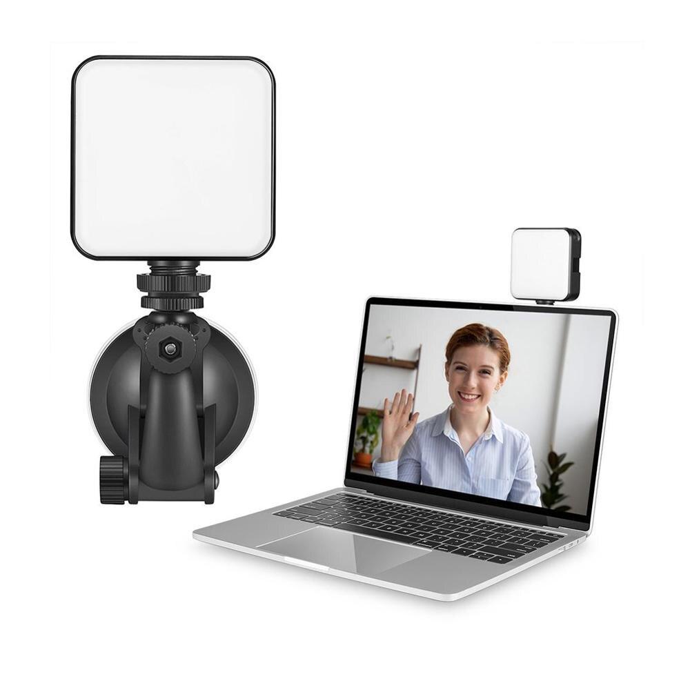 Luz LED para vídeo en directo, 2500K-6500K, 5W, para Smartphone, tableta, portátil, Mini Vlog, luz de relleno para Selfie y vídeo