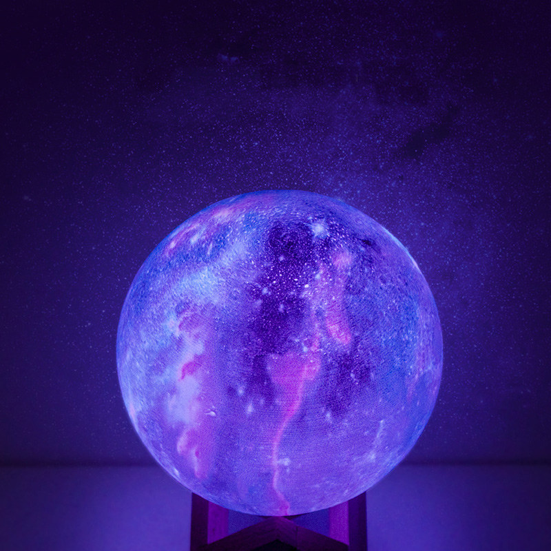 3D Print Sky Of Stars Mood Light Lamp Colorful Change Night Light LED Moonlight Lamp Kids Children's Room Remote Bedside Lamps