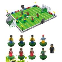 цена на City Model Building Bricks Football Figures Soccer Stadium Field Assembling Educational Toys Blocks For Children Toy Kid Gifts