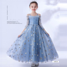 2020Luxury Exquisite Design Children Girls Sequined Birthday Evening Party Ceremony Princess Prom Dress Kids Host Catwalk Dress