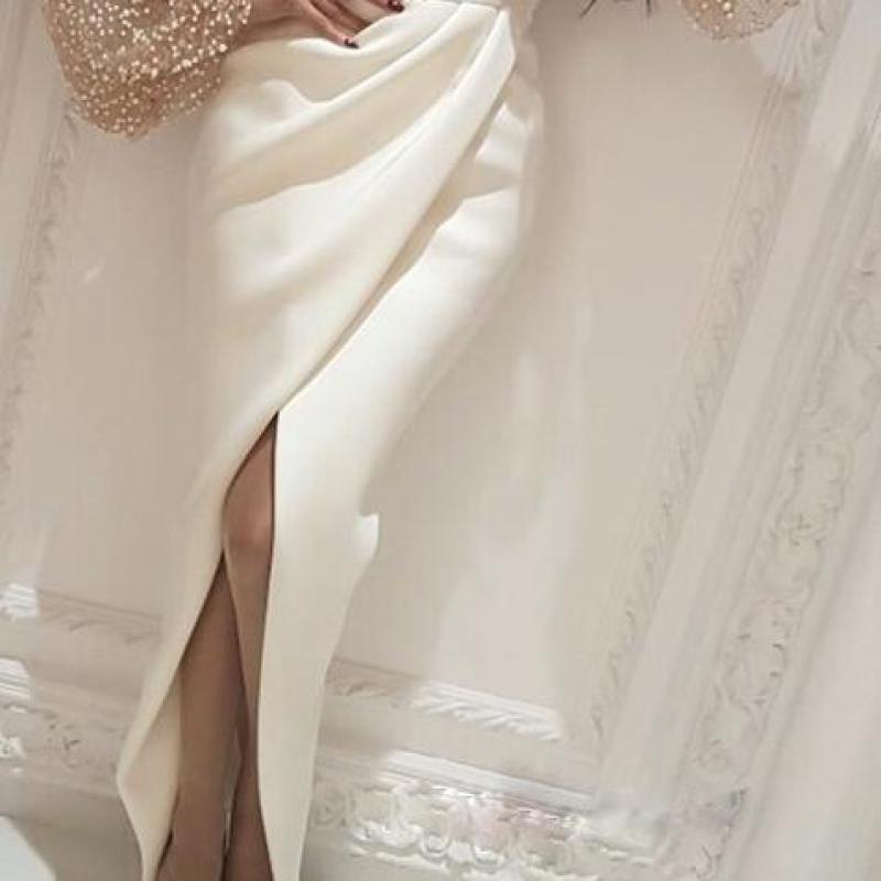 Осеннее женское элегантное вечернее платье макси, стильное длинное вечернее платье, украшенное бисером, Сетчатое лоскутное платье с разрез...