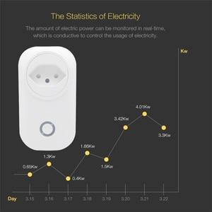 Image 5 - Switzerland Plug WIFI Smart Socket Wireless CH Outlet Tuya Smart Life Power Monitor For Alexa Google Home IFTTT