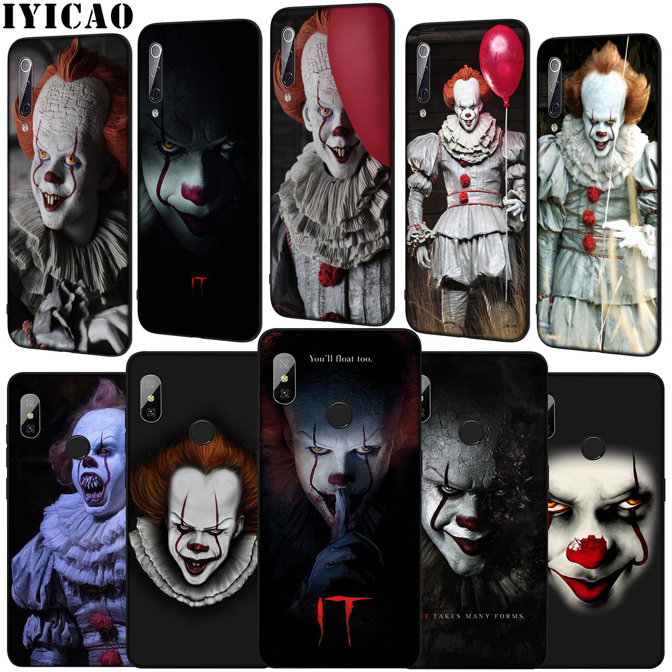 IYICAO the film IT Pennywise Soft Phone Case for Xiaomi Mi 9 9T A3 PRO CC9 CC9E 8 A2 Lite A1 6 6X 5X f1 MAX 3 mi9 mi8