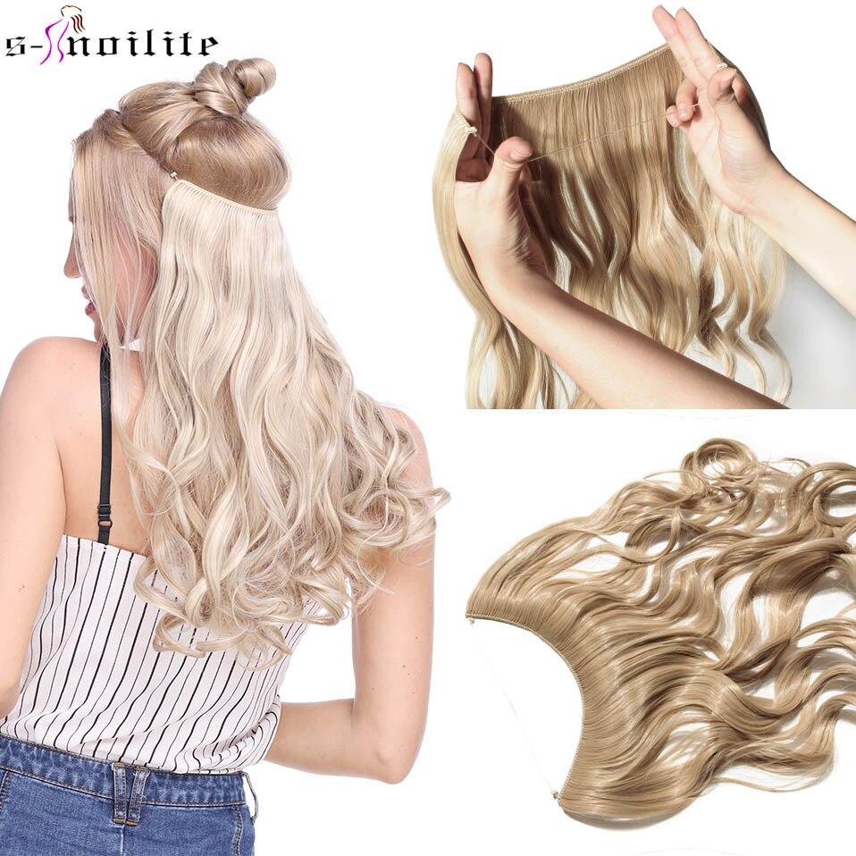 Длинные Синтетические волосы SNOILITE, 20 дюймов, термостойкие волосы, волнистые волосы для наращивания, невидимые волосы
