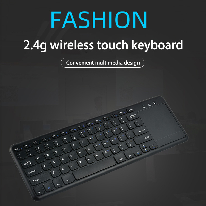Gaming Wireless Keyboard With Touchpad Ultra-Thin Office Keyboard Mouse Suitable 2.4G Keyboard for Multiple Operating Systems