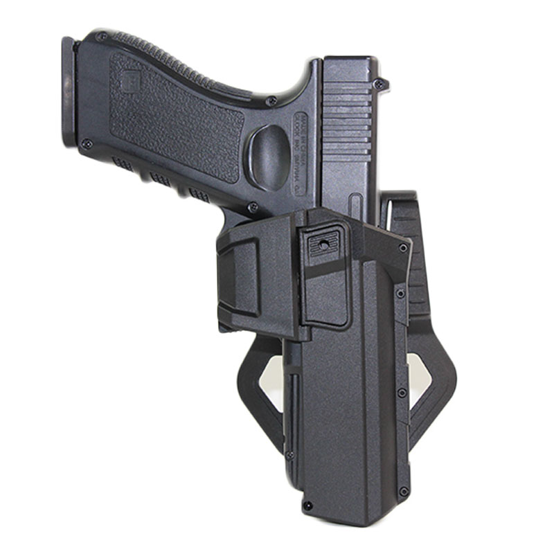 Tactical Airsoft Pistol Gun Holster For Glock 17 18 22 23 Holster Bag With Flashlight Laser Movable Gun Case Hunting Accessories