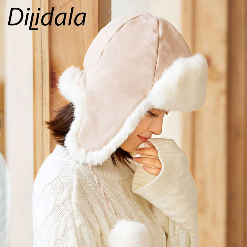 Cap Dilidala Feng-Hat Female Winter New Wild of And Autumn The Lei Korean-Version Hot-Sale