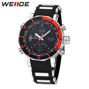 Image 3 - WEIDE Men Watch Chronograph Stopwatch Repeater Automatic Date Alarm Analog Quartz Digital Relogio Masculino Watch Mens Watches
