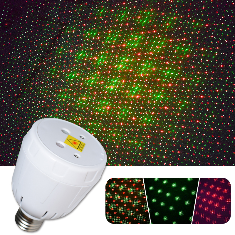 WUZSTAR Mini Star Show Laser Light Disco DJ Projector Lighting RG Christmas Party Lights For Home Festival Decoration