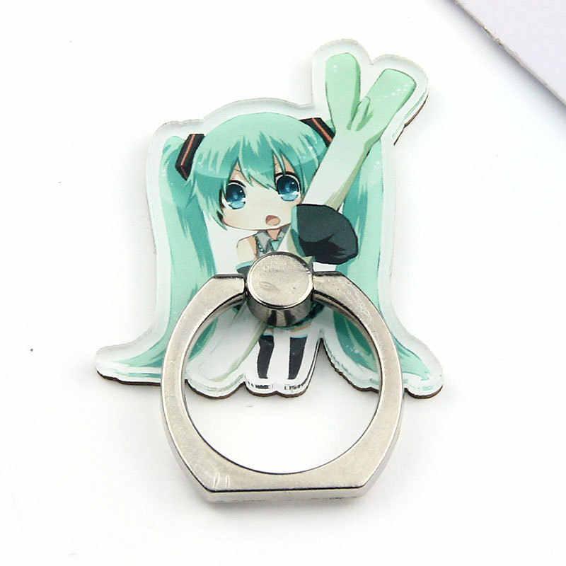 1 Pc uniwersalny Hatsune Miku stojak na telefon 360 stopni akrylowy palec serdeczny na telefon podstawka na telefon komórkowy rysunek zabawki