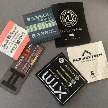 Custom -Made High Density Damask Woven Labels