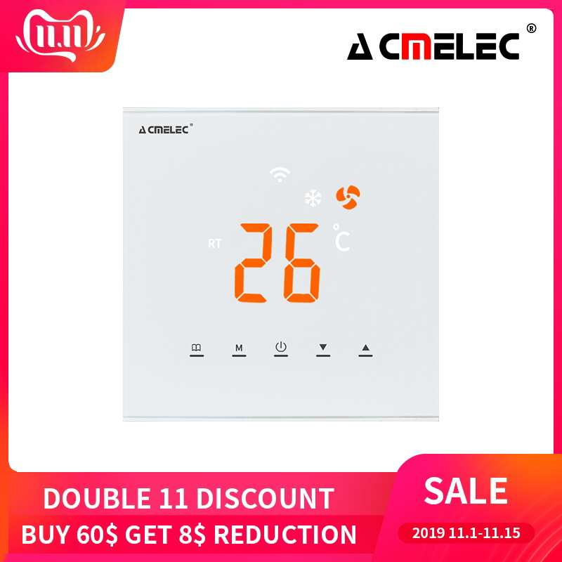 Touch Screen LED Temperature Regulator Central Air Conditioner WIFI Thermostat APP Control Temperature AE-XB-K
