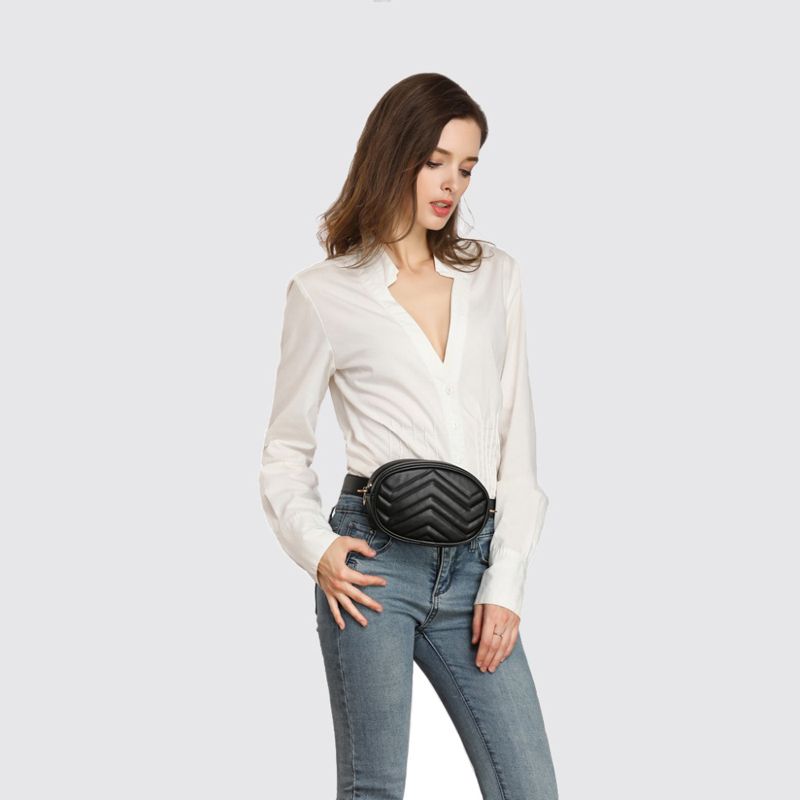 Купить с кэшбэком ALNEED Waist Bag Women Waist Fanny Packs High Quality Belt Bag Luxury Brand Leather Chest Handbag for Ladies 2018 New Fashion
