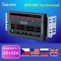 Seicane hohe Version RAM 2GB + ROM 32GB Android 8.1 7 zoll 2Din Universal Auto Radio GPS Multimedia Einheit player Für VW Nissan Kia