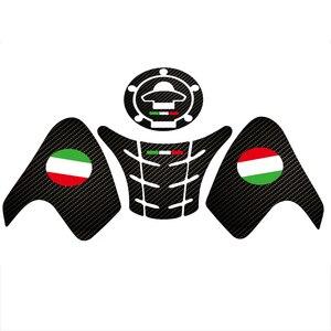 FOR Ducati 797 821 1200 Fiber texture Motorcycle Fuel Tank Pad Cap Decals Gas Cap Sticker(China)
