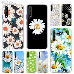Luxury Daisy Flower Floral Phone Case for Huawei Y5 Y6 Y7 Y9 Prime 2019 Y5p Y6p Y8s Y8p Honor 8X 9X 8A 9A 9S 9C Hard Cover