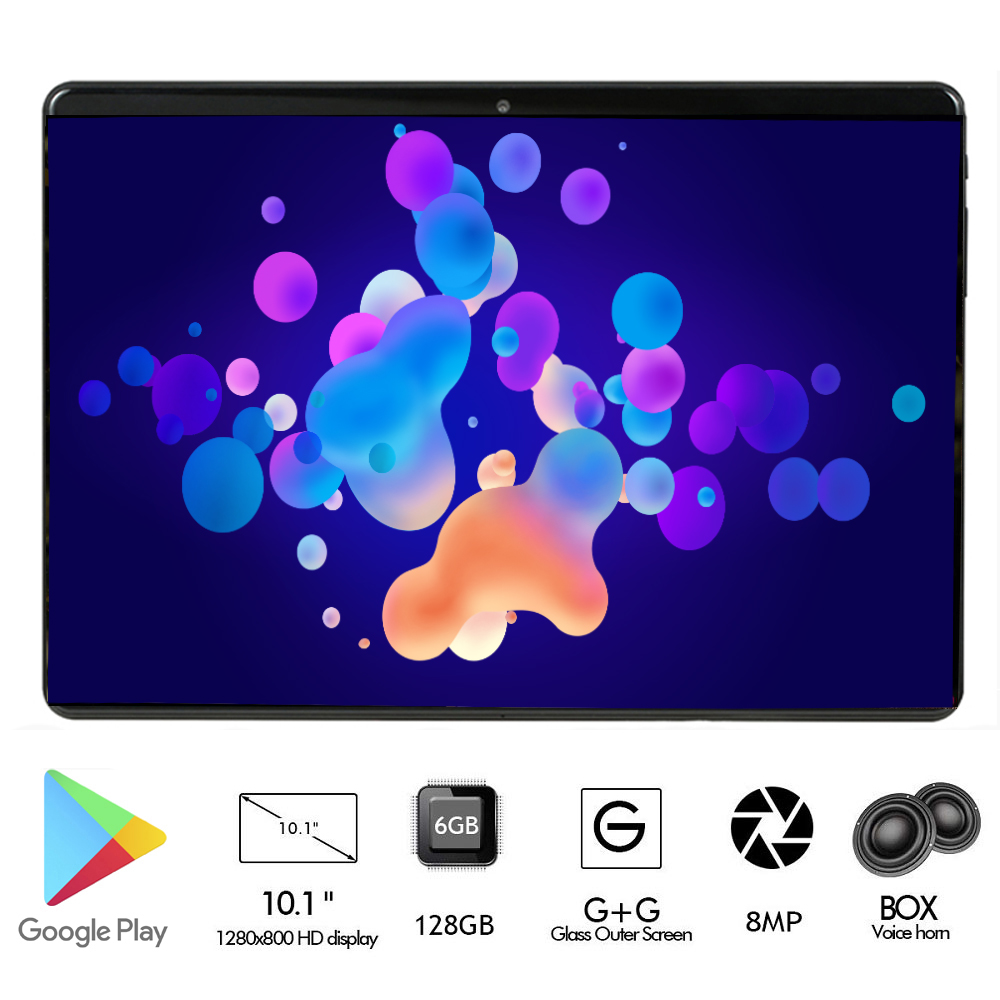 2020 Super Tempered 2.5D Screen 10 Inch Tablet PC Android 9.0 Octa Core 6GB RAM 128GB ROM 8 Cores Tablet  For Kids