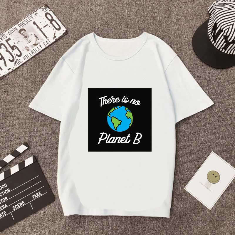 <font><b>There</b></font> <font><b>Is</b></font> <font><b>No</b></font> <font><b>Planet</b></font> <font><b>B</b></font> womens <font><b>Tshirts</b></font> Casual Short Sleeve Summer Fashion Clothes Women Funny <font><b>Tshirt</b></font> Outdoor Street Basic Tops image