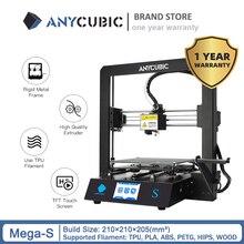 Anycubique 3D imprimante mise à niveau mega s 3d Kits dimpression grande taille plein métal écran tactile 3d imprimante Mega S 3D Drucker Impresora 3d